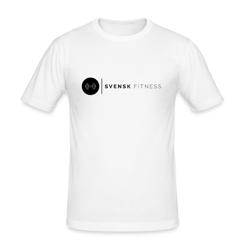 Svart logo vertikal dam - Slim Fit T-shirt herr