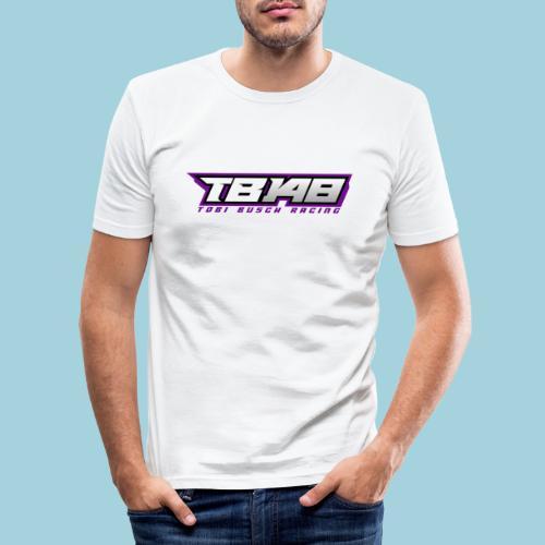 Tob Logo Lila - Männer Slim Fit T-Shirt