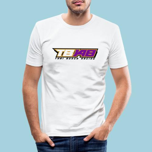 Tobi Logo schwarz - Männer Slim Fit T-Shirt