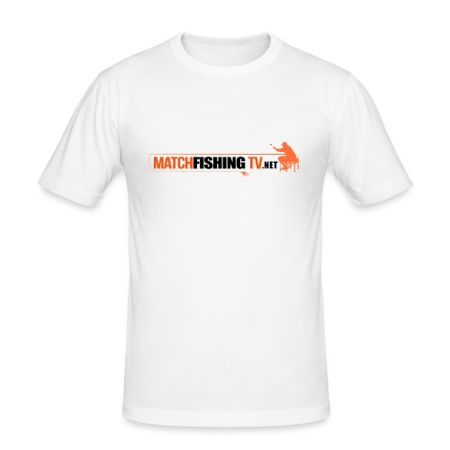 Match Fishing TV - Maglietta aderente da uomo