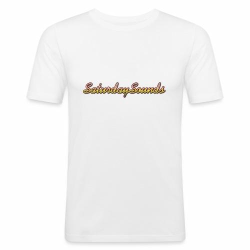 SaturdaySounds Hoes voor lPhone 5/5s. - Mannen slim fit T-shirt