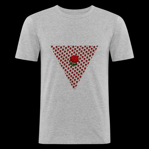 Dreieck Rose - Männer Slim Fit T-Shirt
