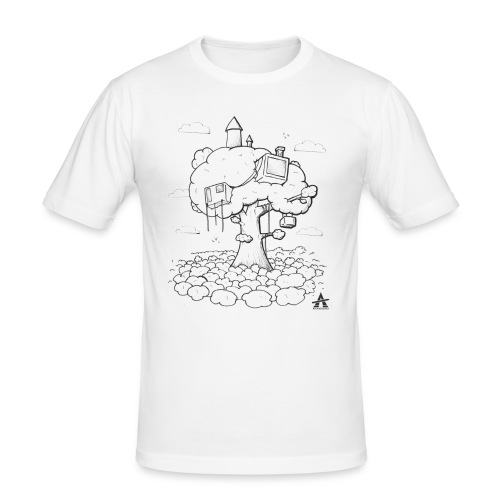 Cabane dans un arbre Sketch Line - T-shirt près du corps Homme