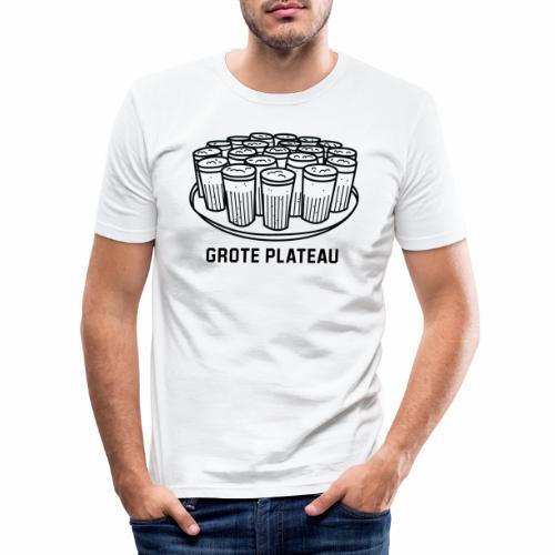 Grote Plateau - Mannen slim fit T-shirt