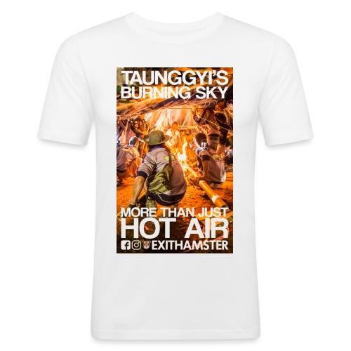 TAUNGGYI S BURNING SKY - Men's Slim Fit T-Shirt