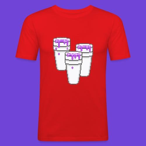 Purple - Maglietta aderente da uomo