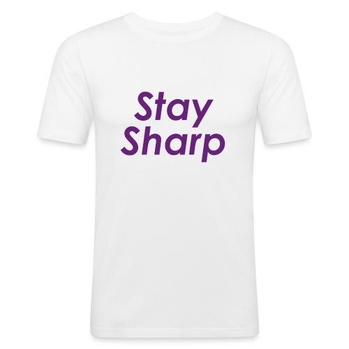 Stay Sharp - Maglietta aderente da uomo