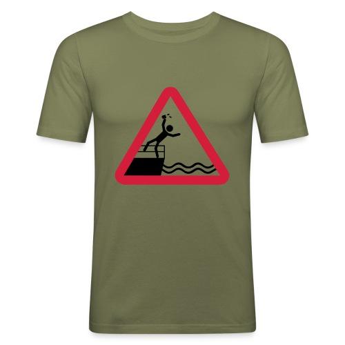 Bitte kein Bier Verschütten! - Männer Slim Fit T-Shirt