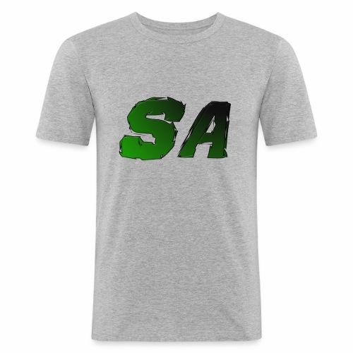 Grön SA Logo - Slim Fit T-shirt herr