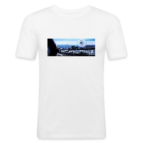 Skyline / Logo Can T - Shirt - Männer Slim Fit T-Shirt