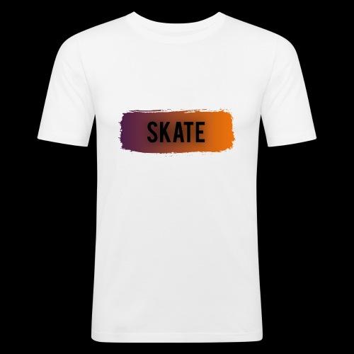 skate brush - Mannen slim fit T-shirt