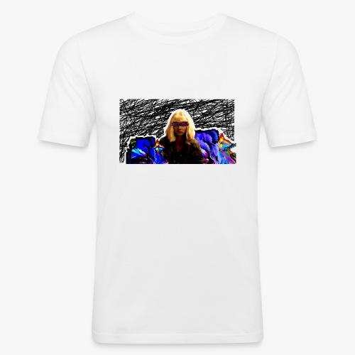 Look at idk - Obcisła koszulka męska