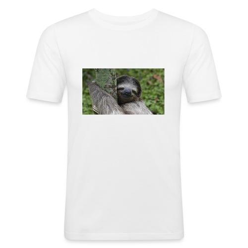Luiaard - Mannen slim fit T-shirt
