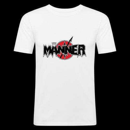 Maenner Logo mit schwarzer Krone - Männer Slim Fit T-Shirt