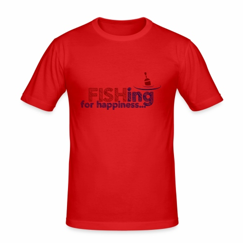 Fishing For Happiness - Men's Slim Fit T-Shirt