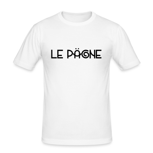 Le Pägne Logo Noir - T-shirt près du corps Homme