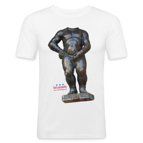 mannekenpis Real Big ♀♂ | 撒尿小童 - T-shirt près du corps Homme