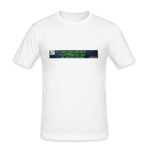 White YouTube Banner Tee - Men's Slim Fit T-Shirt