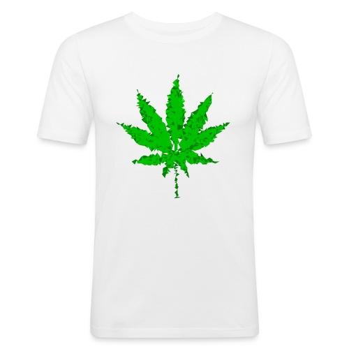 triangulated image 5 png - Männer Slim Fit T-Shirt