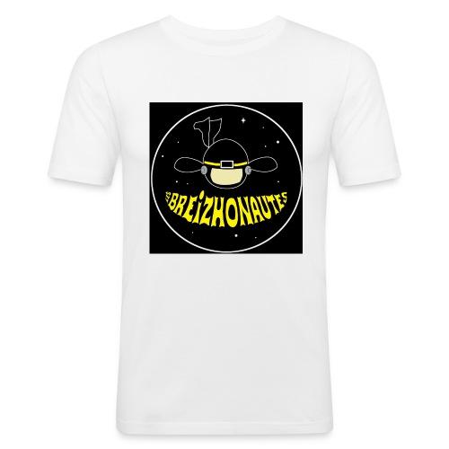 Logo Les Breizhonautes - T-shirt près du corps Homme