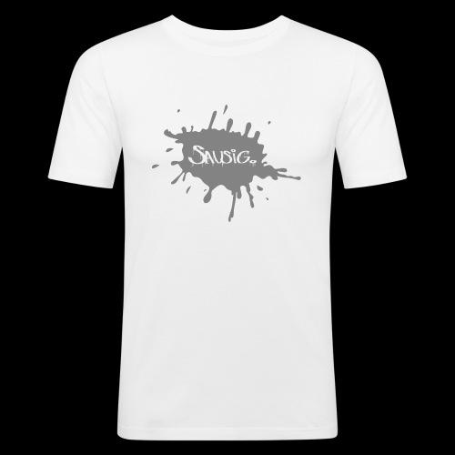 sausig - Mannen slim fit T-shirt