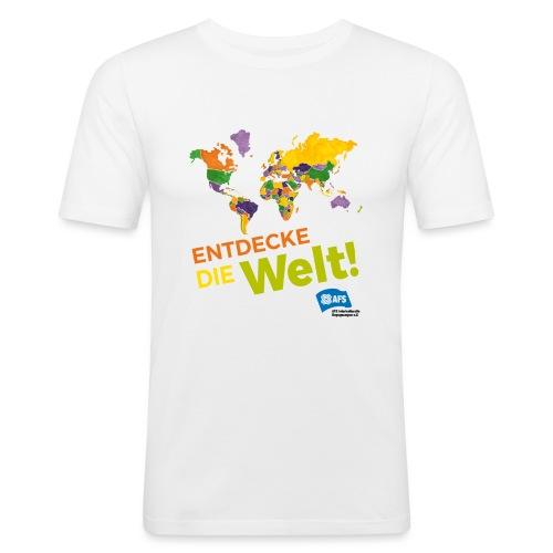 Entdecke die Vielfalt der Welt mit AFS - Männer Slim Fit T-Shirt