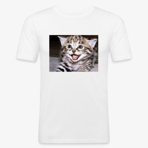 Cute Cat - Men's Slim Fit T-Shirt