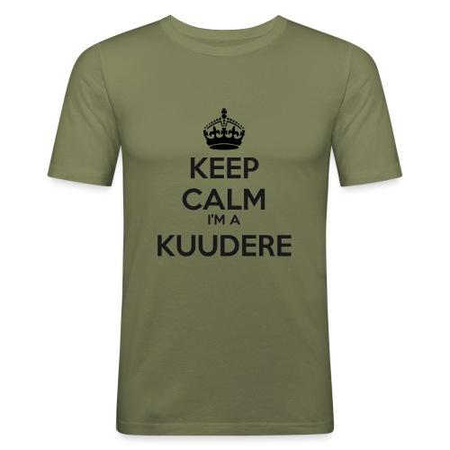Kuudere keep calm - Men's Slim Fit T-Shirt