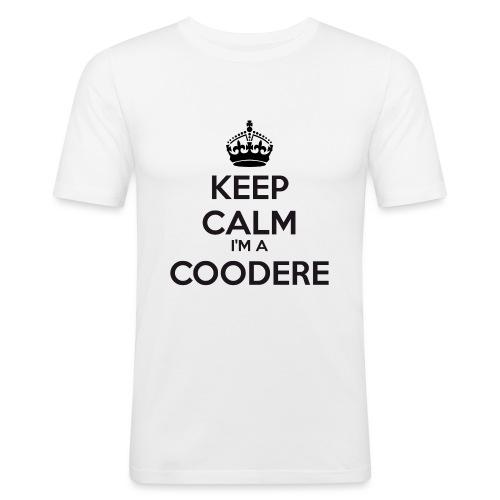 Coodere keep calm - Men's Slim Fit T-Shirt