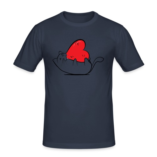 Cat Love - Mannen slim fit T-shirt