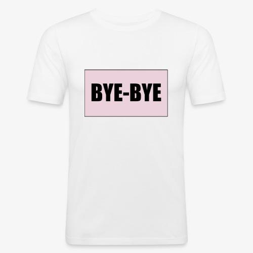 Logo BYE-BYE Rose et Noir - T-shirt près du corps Homme
