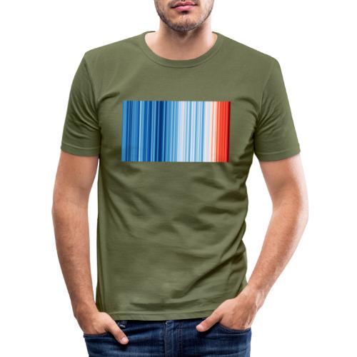 Klimawandel - Warming Stripes - Wärmestreifen - Männer Slim Fit T-Shirt