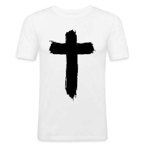Brushed-Cross - Männer Slim Fit T-Shirt