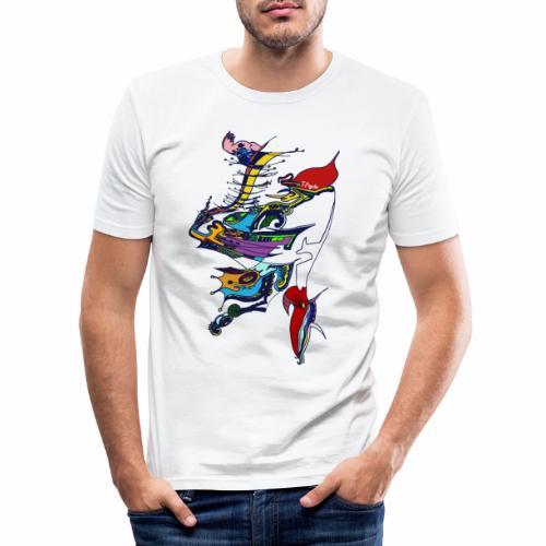 livrea3 COLORATA senza sfondo - Maglietta aderente da uomo