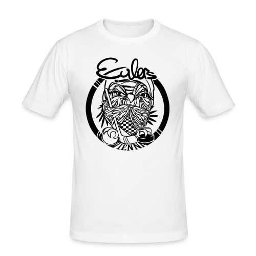 Eulers on White - Männer Slim Fit T-Shirt