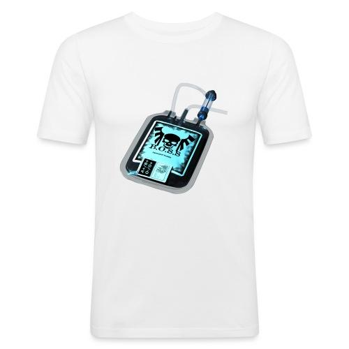 Plasma noir - T-shirt près du corps Homme