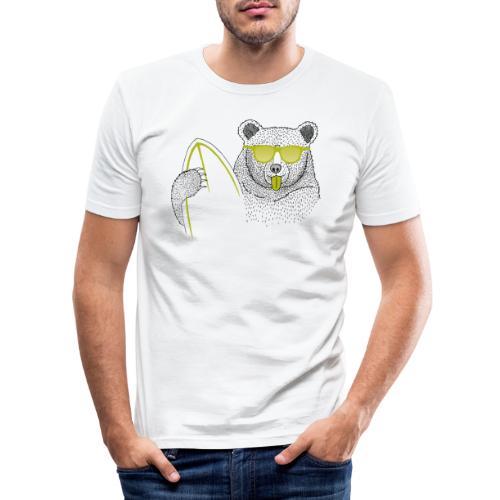 BABO green Bär - Männer Slim Fit T-Shirt