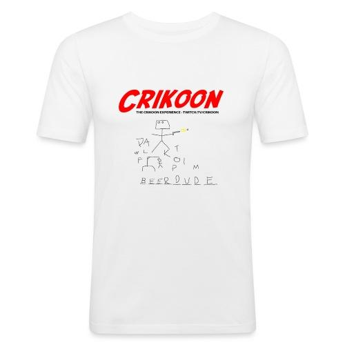 beerdude-png - Men's Slim Fit T-Shirt