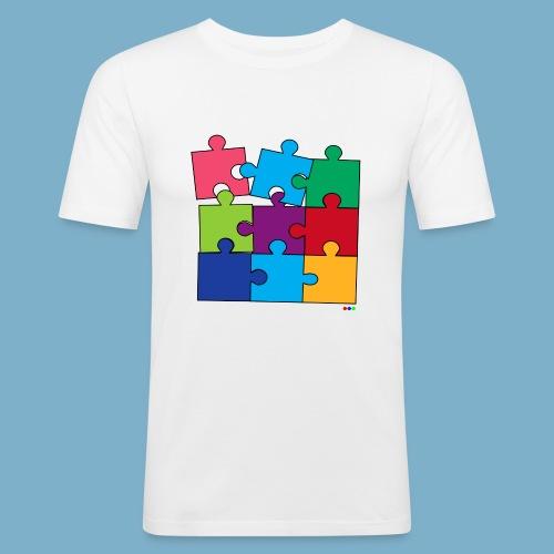 Puzzle Fun Motive - Männer Slim Fit T-Shirt