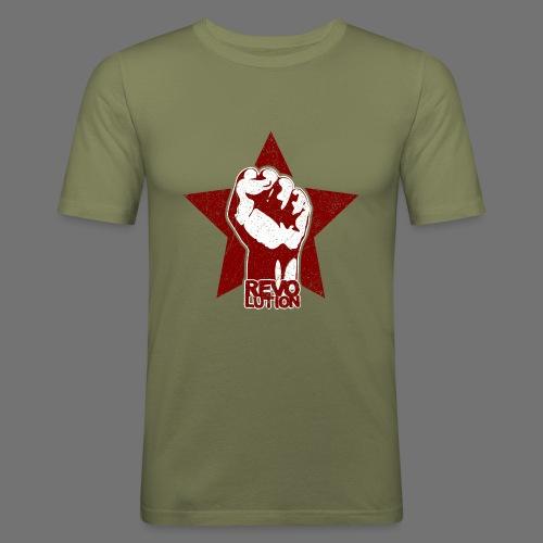 Revolution (oldstyle) - Miesten tyköistuva t-paita