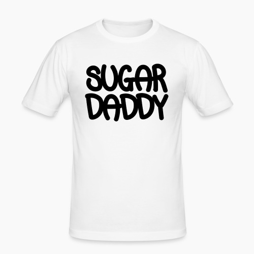 Sugar Daddy Zwart - Mannen slim fit T-shirt