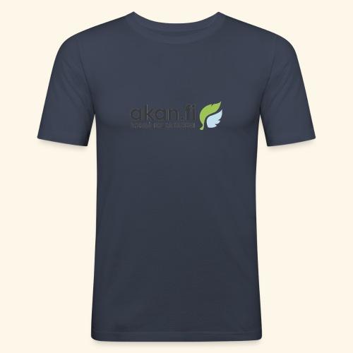 Akan Black - Miesten tyköistuva t-paita