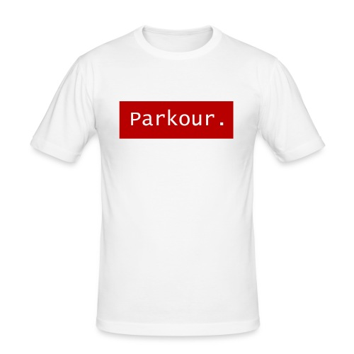 Parkour. - Mannen slim fit T-shirt