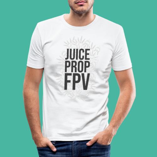 JuicePropFPV LOGO Pile Text Only - Männer Slim Fit T-Shirt