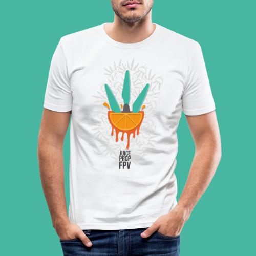 JuicePropFPV LOGO Pile - Männer Slim Fit T-Shirt