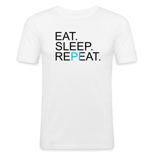 Eat Sleep Repeat PI Mathe Hell - Männer Slim Fit T-Shirt