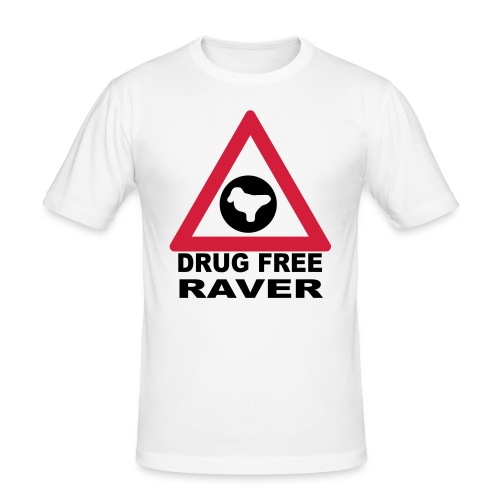 Drug free raver featuring an Ecstasy Dove Pill - Men's Slim Fit T-Shirt