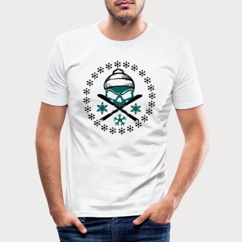 ski_skull - Männer Slim Fit T-Shirt