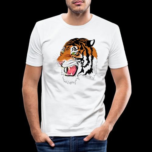 Sumatra Tiger - Männer Slim Fit T-Shirt