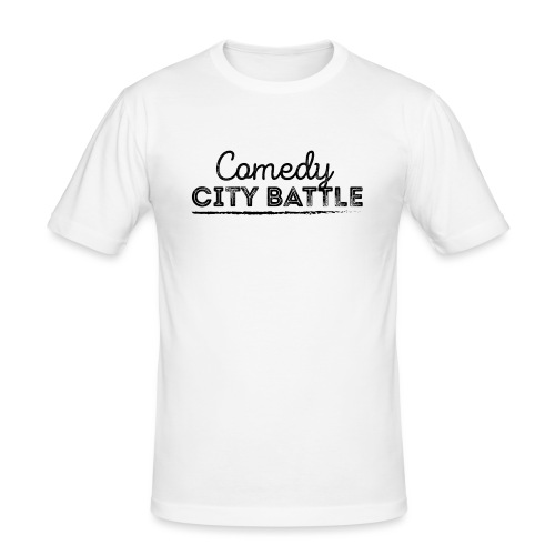 Comedy City Battle Logo Black - Männer Slim Fit T-Shirt